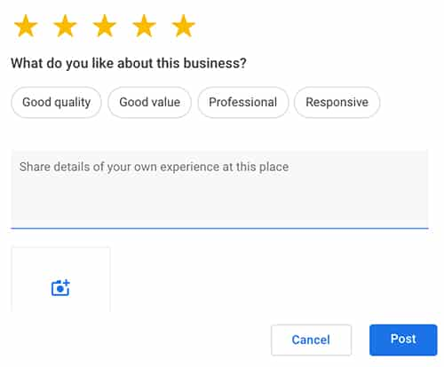 Google Review Attributes